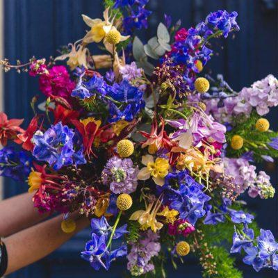 bouquet champêtre colore