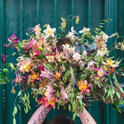 bouquet champetre pastel