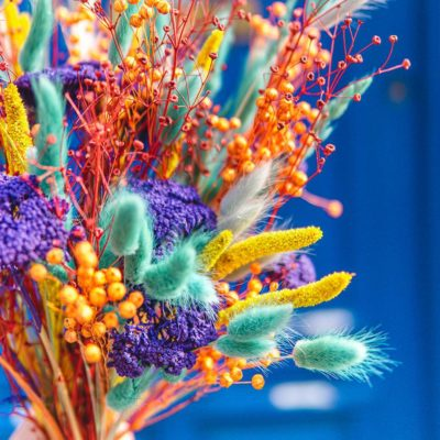 bouquet sechees colores